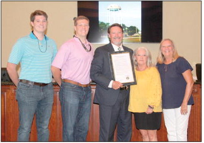 Lyons City Council, GAPC  Honor Chief Wesley Walker