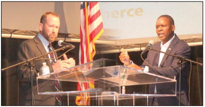 Live, On-Stage Debate Pits  Candidates for Area Races