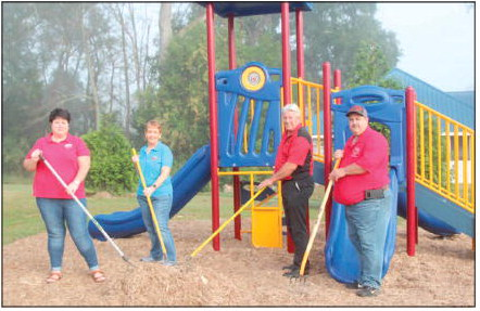 Playscape in Partin Park  Dedicated to Special Needs