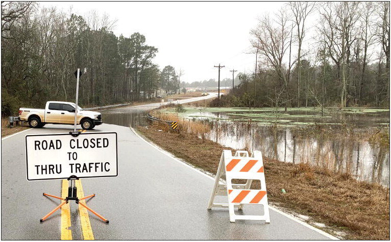 Flooding Closes Area Roads