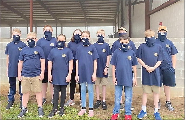 Toombs County 4-H BB Team  Competes in District Match
