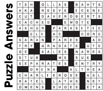 Puzzle Answers ….