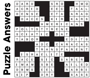 Answers  Puzzle ….